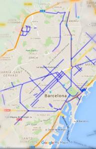google-maps-carril-bici-barcelona