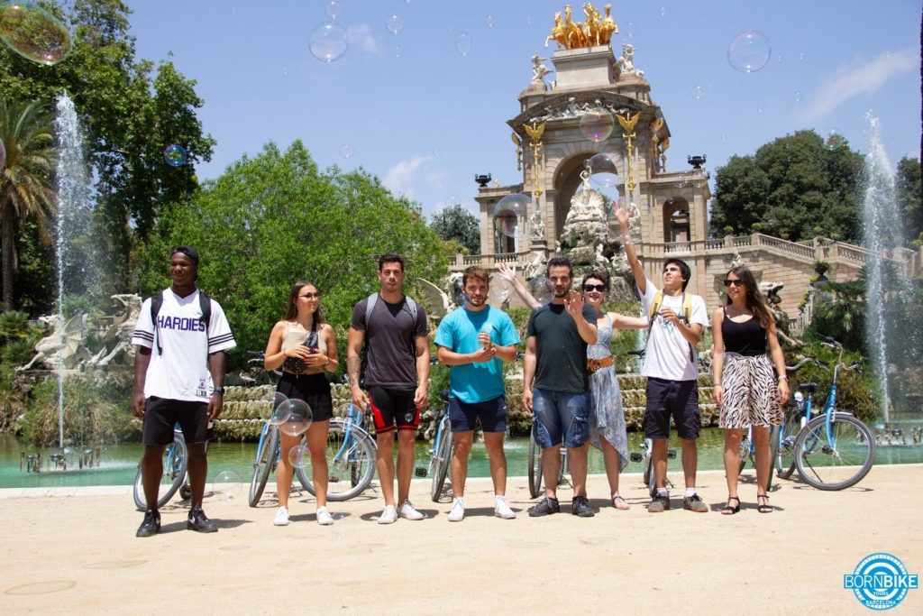 an image which contain a park, people, nature, born bike tours Barcelona