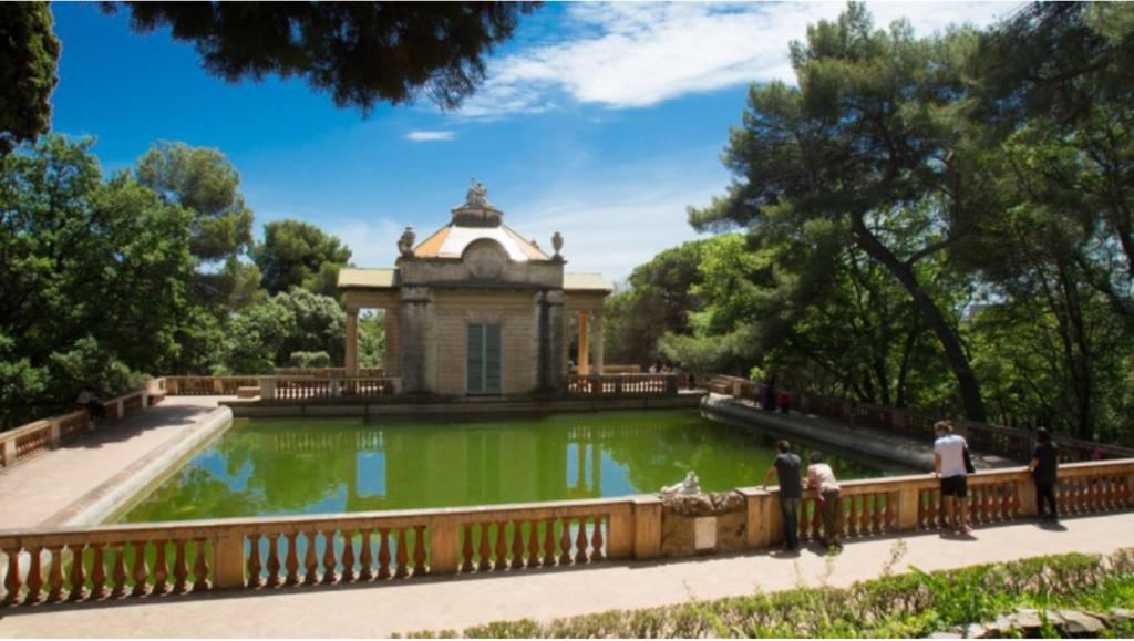 Une image contenant arbre, extérieur, jour, personnes, eau, parc