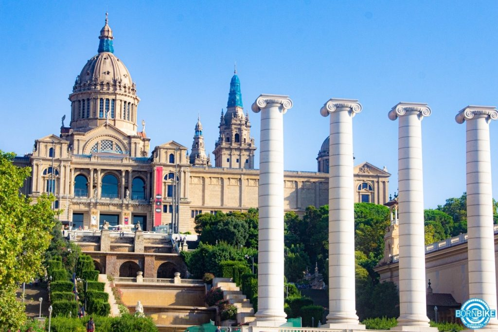 An image containing exterior, building, city, government building, national art museum of catalunya