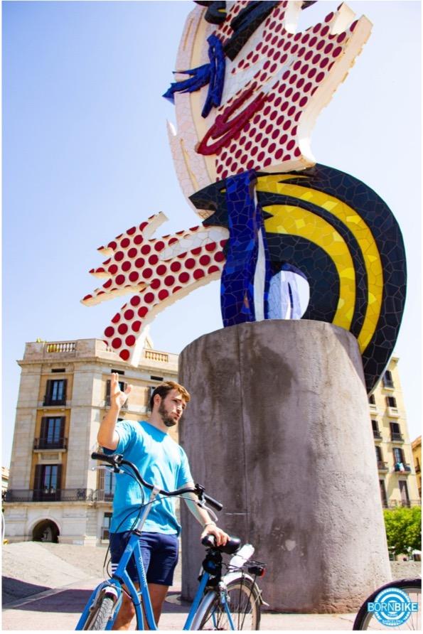 lacarabarcelona, Barcelona's head, elcapdebarcelona, bicicletabornbiketoursbarcelona
