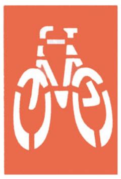 esta imagen presenta la marca de vía ciclista