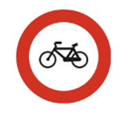 cette image représente le panneau vélos interdits