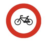 esta imagen presenta la señal de prohibición de bicicletas
