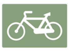 cette image représente le panneau de bande cyclable
