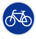 this picture shows the cycle lane or lane reserved for bicycles' signal