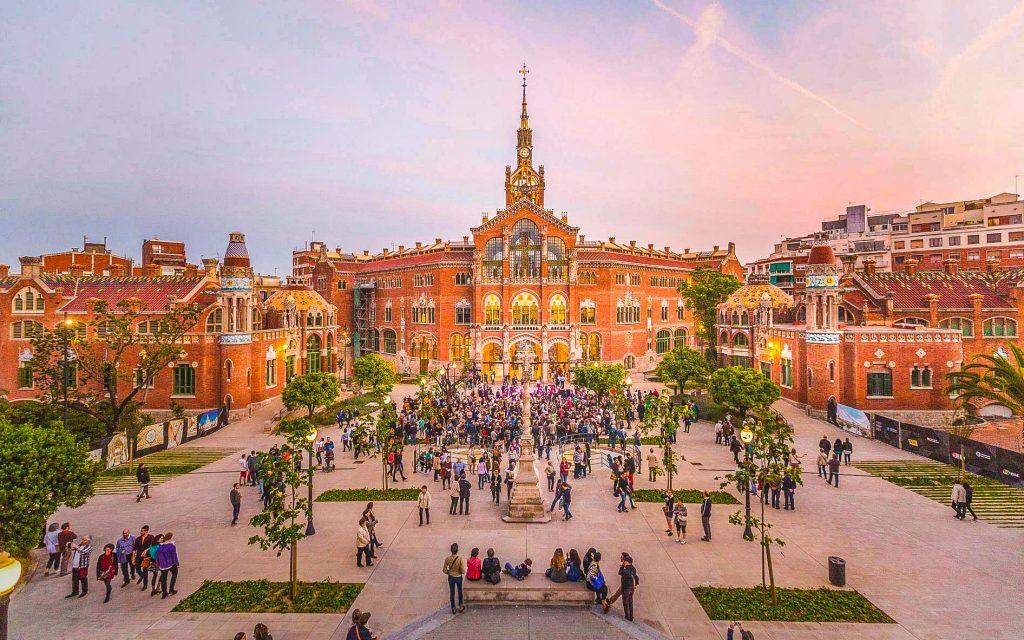 Recinta Modernista de Sant Pau en Barcelona
