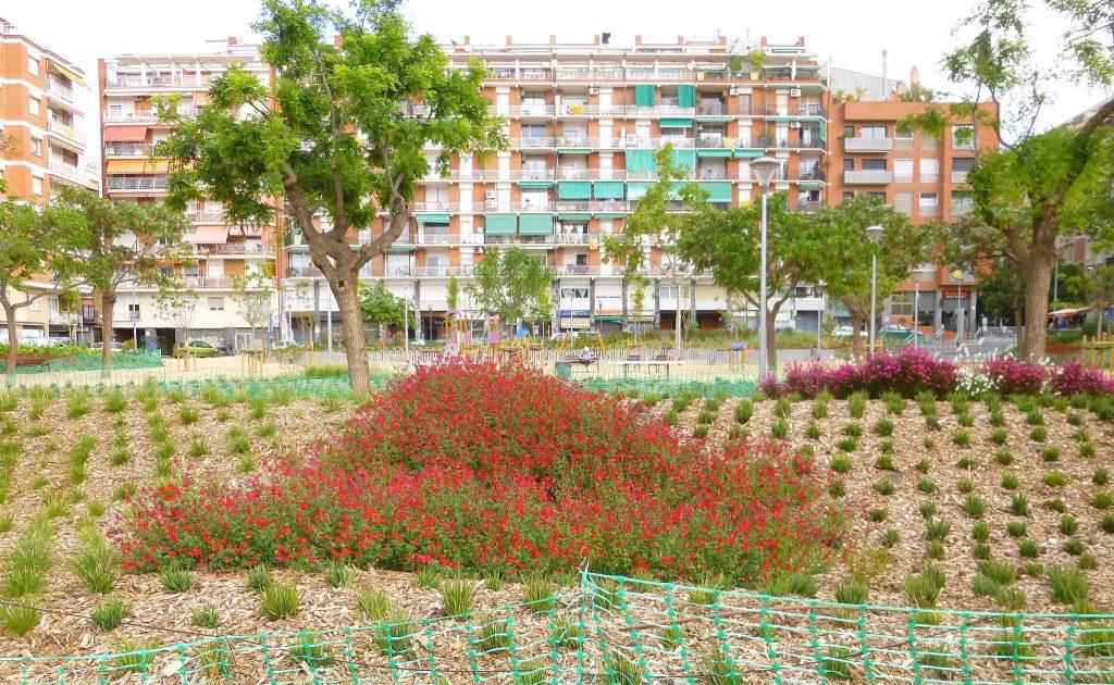 garden of can mantega in barcelona sants