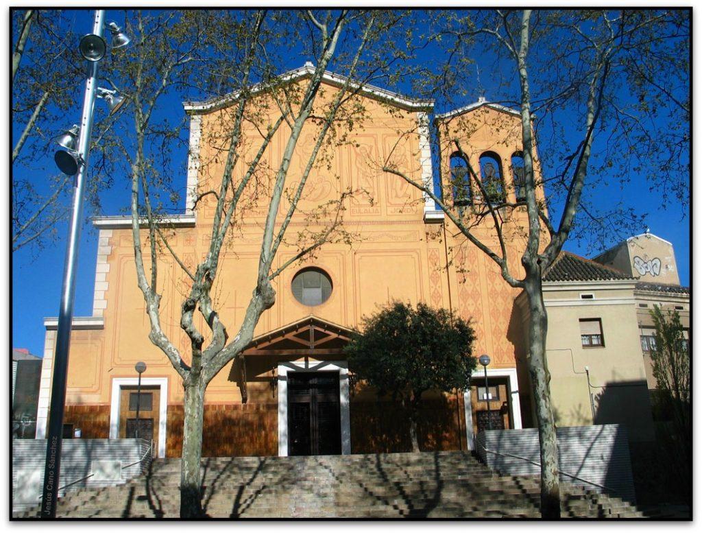 iglesia de santa maria de sants en el barrio barcelona sants