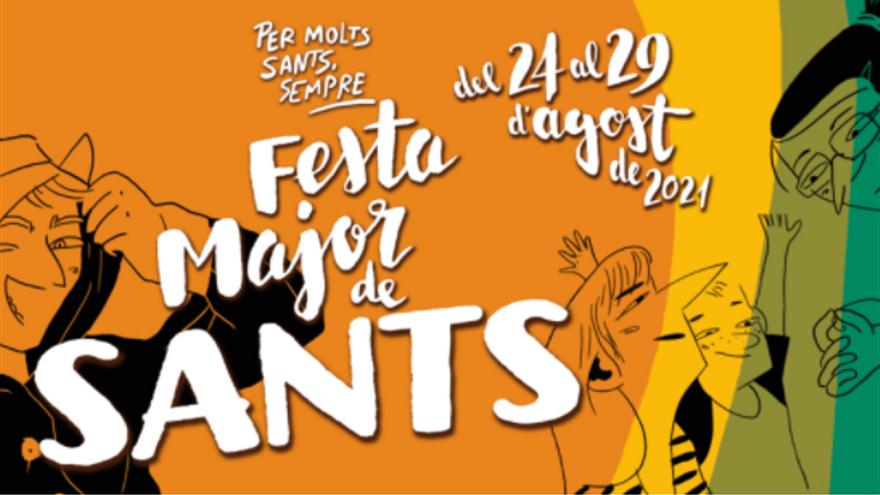 folleto de la fiesta major en barcelone en el barrio de sants