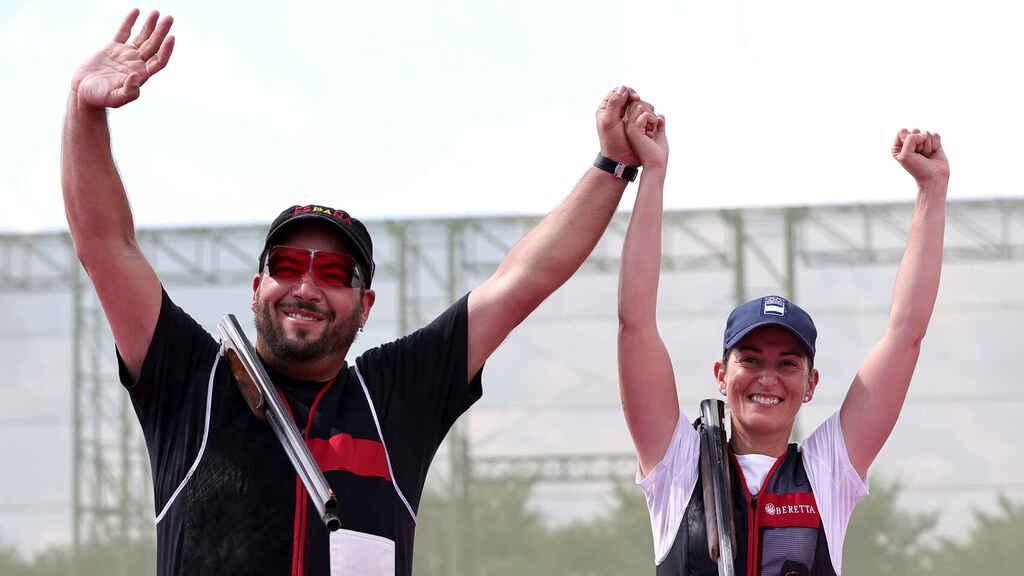 Fatima Galvez y Alberto Ferandez en los Juegos Olímpicos de Tokio 2021