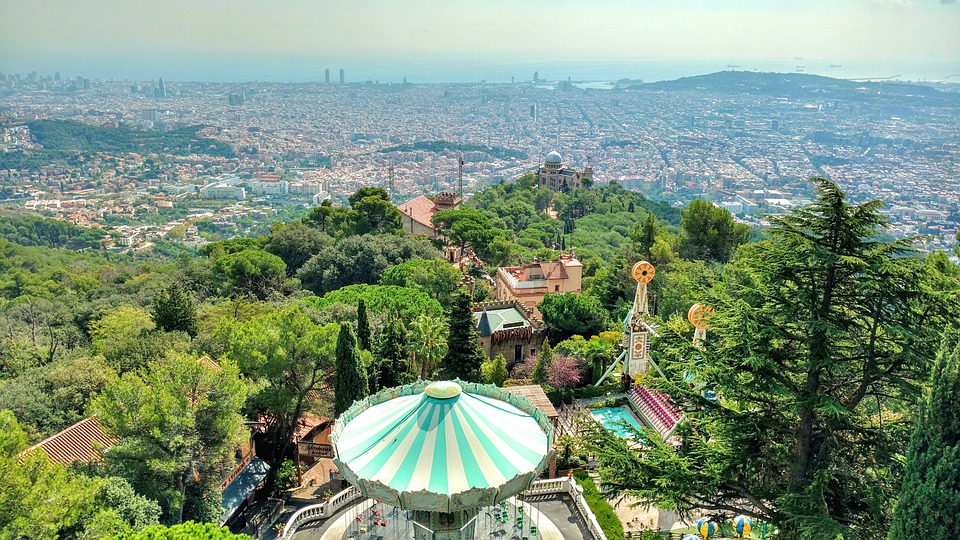 Green spaces in Barcelone