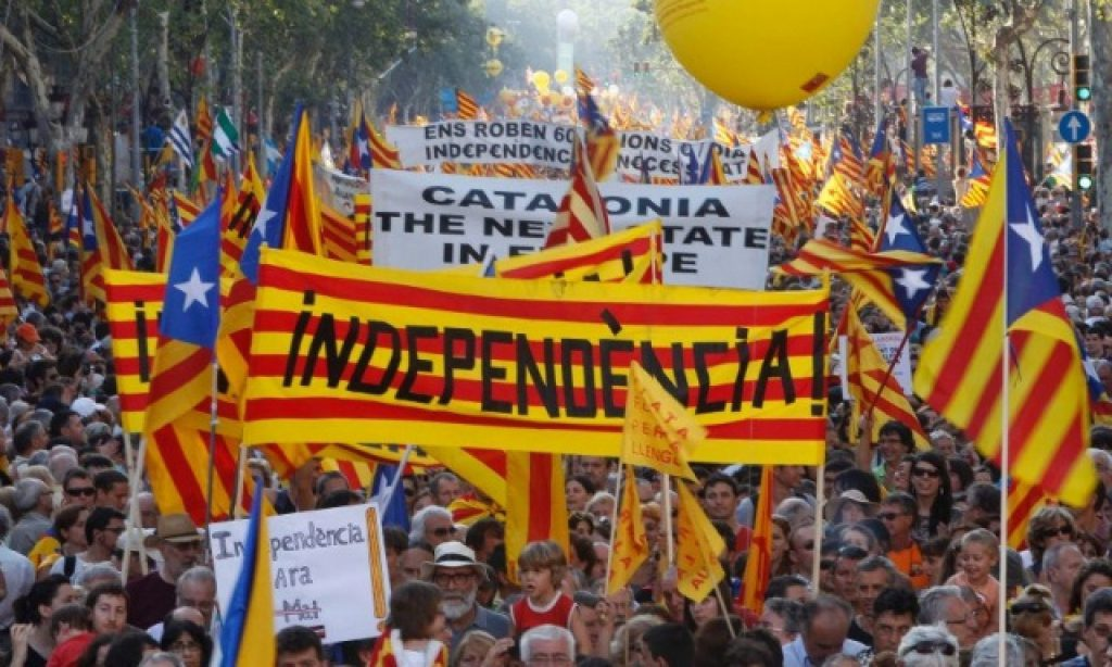 Independence demonstrations on Catalonia's national day