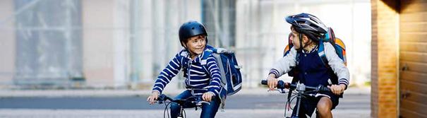 children bikes school mobility